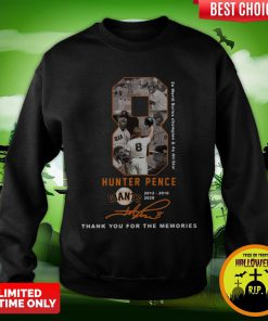 Official 8 Hunter Pence San Francisco Giants 2012 2018 2020 Thank You For The Memories Signature Sweatshirt