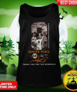 Official 8 Hunter Pence San Francisco Giants 2012 2018 2020 Thank You For The Memories Signature Tank Top