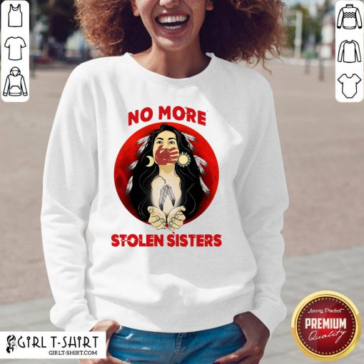 Official Beautiful No More Stolen Sisters Native Feathers V-neck - Design By Girltshirt.com