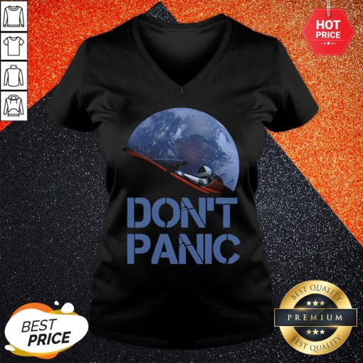 Official Don't Panic Starman Essential V-neck