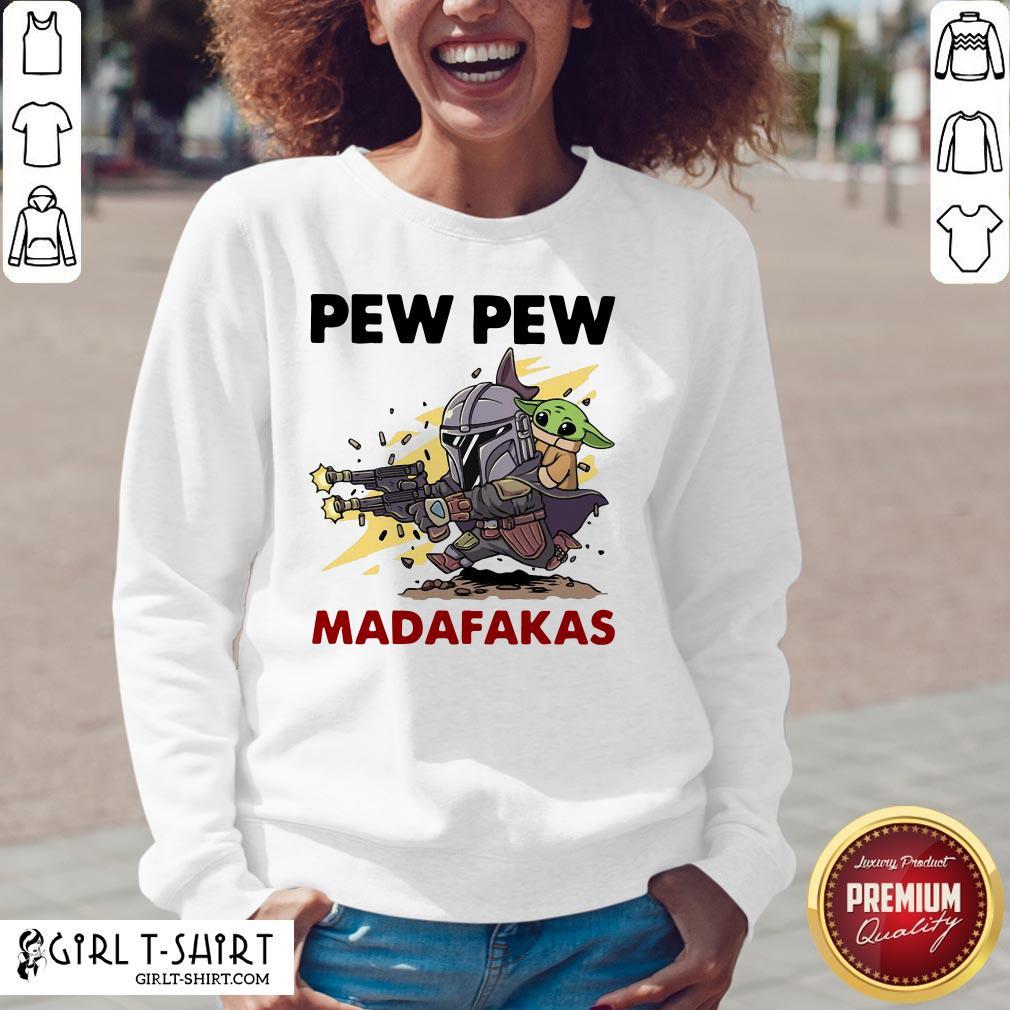 Official Formal Pew Pew Madafakas The Mandalorian Baby Yd V-neck - Design By Girltshirt.com