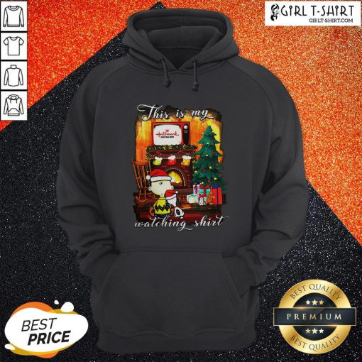 Official Funny Snoopy And Charlie Brown This Is My Hallmark Christmas Movie Watching Hoodie - Design By Girltshirt.com