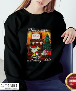 Official Funny Snoopy And Charlie Brown This Is My Hallmark Christmas Movie Watching Sweatshirt - Design By Girltshirt.com