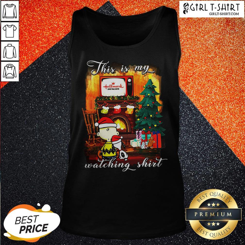 Official Funny Snoopy And Charlie Brown This Is My Hallmark Christmas Movie Watching Tank Top - Design By Girltshirt.com