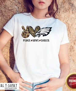 Official Peace Love And Eagles Leopard Shirts - Design By Girltshirt.com
