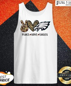 Official Peace Love And Eagles Leopard Tank Top - Design By Girltshirt.com