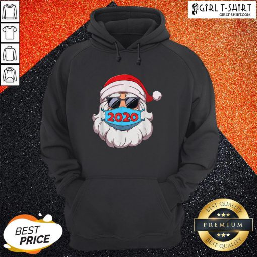 Official Santa Claus Face Mask Glasses 2020 Hoodie - Design By Girltshirt.com