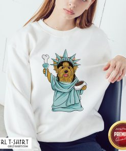 Official Yorkie Liberties Sweatshirt - Design By Girltshirt.com