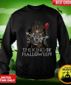 Pennywise The King Of Halloween Is Coming Sunset Sweatshirt