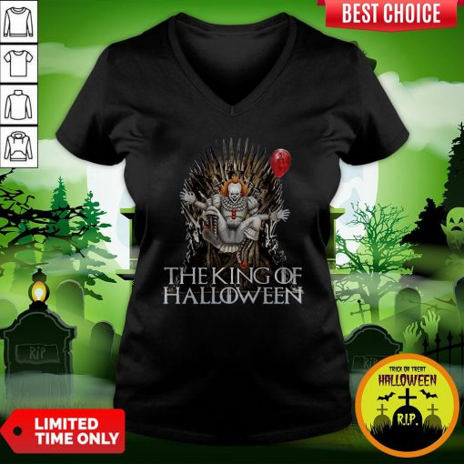 Pennywise The King Of Halloween Is Coming Sunset V-neck