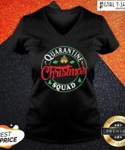 Perfect Quarantine Christmas Squad Bells V-neck - Design By Girltshirt.com