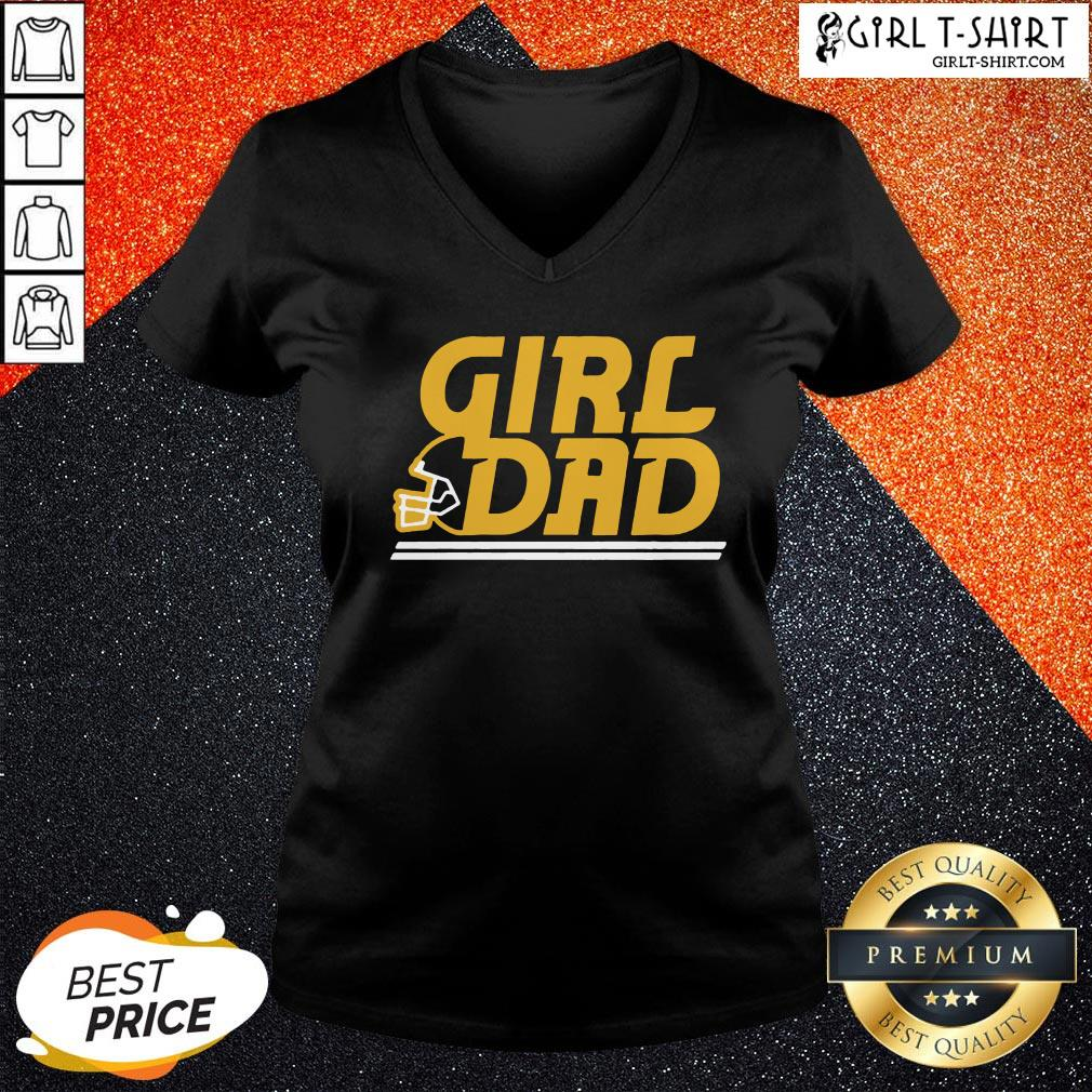 Photo KC Girl Dad V-neck - Design By Girltshirt.com