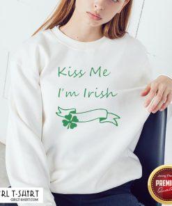 Premium Kiss Me I'm Irish Sweatshirt - Design By Girltshirt.com