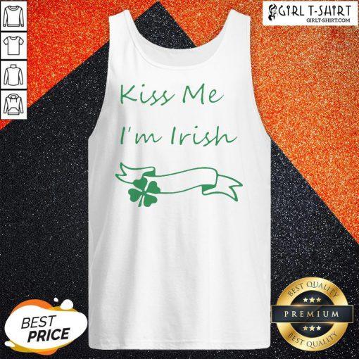 Premium Kiss Me I'm Irish Tank Top - Design By Girltshirt.com
