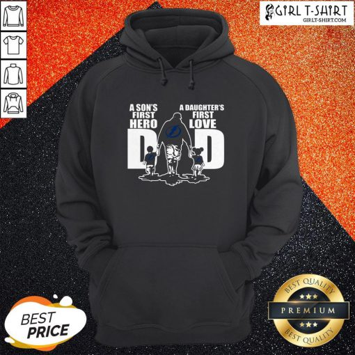 Pro Tampa Bay Lightning Dad First Hero A Daughter's First Love Hoodie