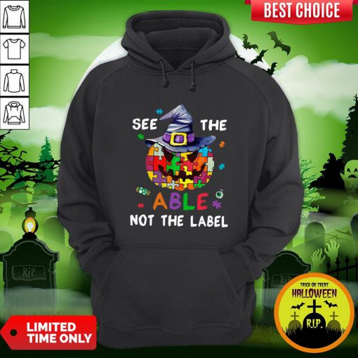 Pumpkin Autism See The Able Not The Label Halloween Hoodie