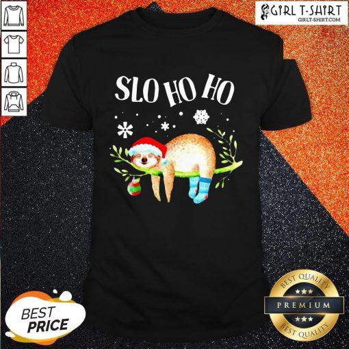 Sloth Slo Ho Ho Christmas 2020 Shirt