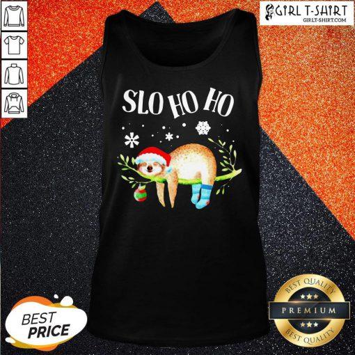 Sloth Slo Ho Ho Christmas 2020 Tank Top
