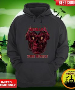 Sweet Skull Metallica Arizona State Sun Devil Hoodie