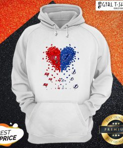 Tampa Bay Buccaneers And Tampa Bay Lightning Heart Hoodie