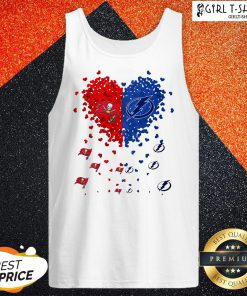 Tampa Bay Buccaneers And Tampa Bay Lightning Heart Tank Top