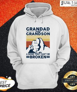 That Grandad And Grandson A Bond That Can't Be Broken Vintage Hoodie- Design By Girltshirt.com
