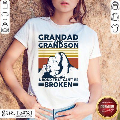 That Grandad And Grandson A Bond That Can't Be Broken Vintage Shirt - Design By Girltshirt.com