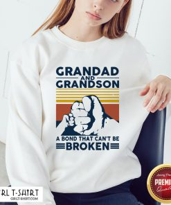 That Grandad And Grandson A Bond That Can't Be Broken Vintage Sweatshirt - Design By Girltshirt.com