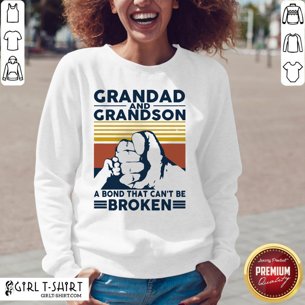 That Grandad And Grandson A Bond That Can't Be Broken Vintage V-neck - Design By Girltshirt.com