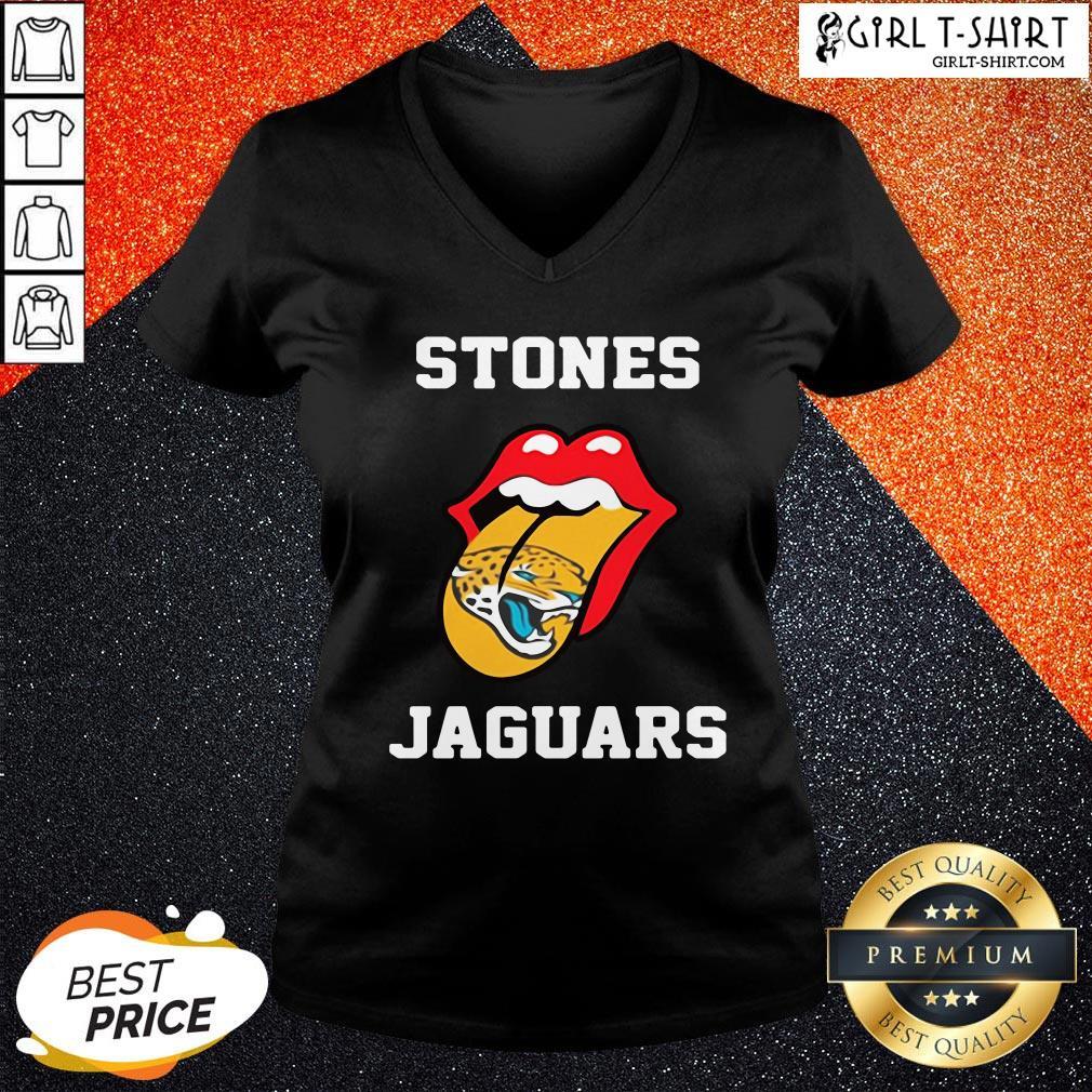 The Funny Stones Jacksonville Jaguars V-neck - Design By Girltshirt.com