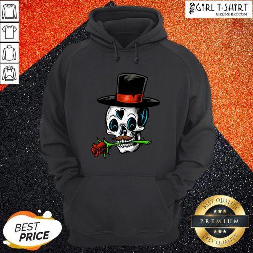 The Man With Rose Sugar Skull Dia De Muertos Day Of Dead Hoodie
