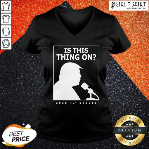 They Is This Thing On Trump Presidential Debate 2020 V-neck- Design By Girltshirt.com