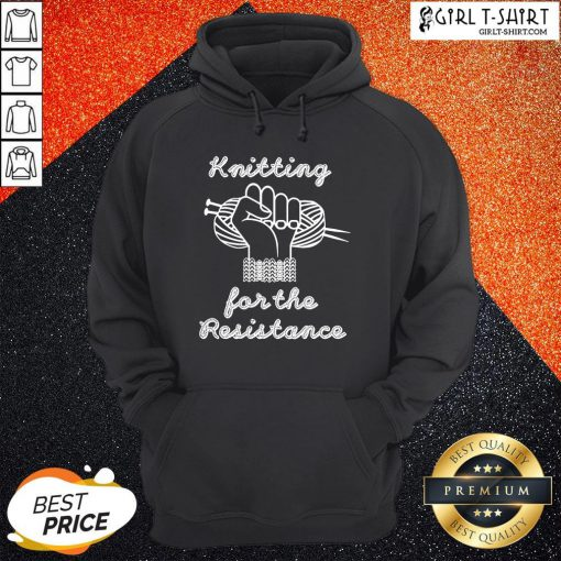 Thief Knitting For The Resistance Hoodie- Design By Girltshirt.com
