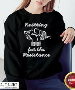 Thief Knitting For The Resistance Sweatshirt - Design By Girltshirt.com