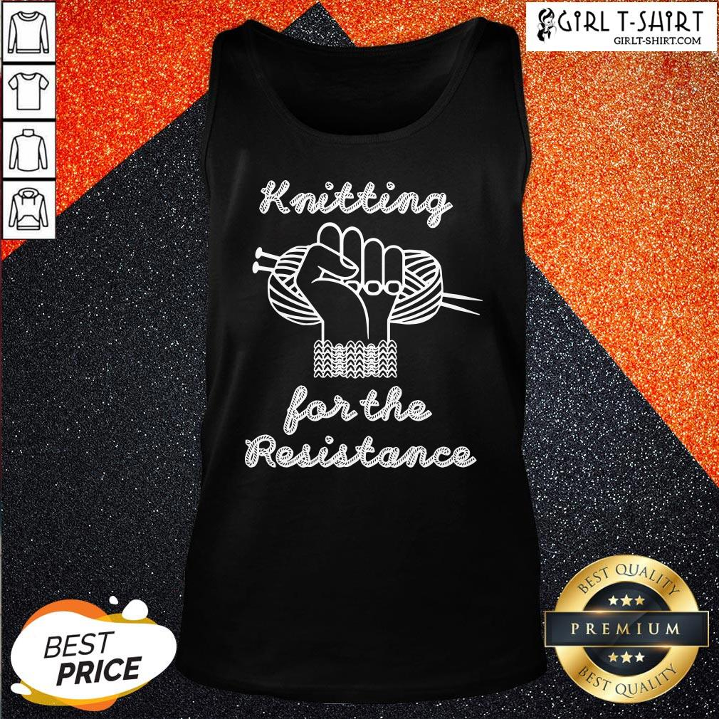 Thief Knitting For The Resistance Tank Top - Design By Girltshirt.com