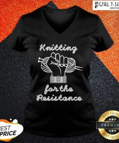 Thief Knitting For The Resistance V-neck - Design By Girltshirt.com