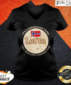 Train It's A Norwegian Thing Lefse You Wouldn't Understand V-neck - Design By Girltshirt.com