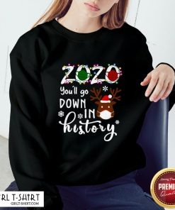 Understand 2020 You'll Go Down In History Christmas Sweatshirt - Design By Girltshirt.com