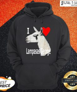 What I Love Lampasas George The Llama White Letter Hoodie - Design By Girltshirt.com