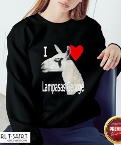 What I Love Lampasas George The Llama White Letter Sweatshirt - Design By Girltshirt.com