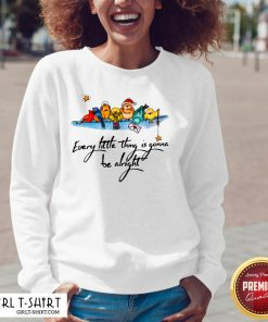 What Little Thing Is Gonna Be Alright V-neck - Design By Girltshirt.com