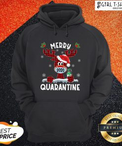 What Reindeer Face Mask 2020 Merry Christmas Quarantine Hoodie - Design By Girltshirt.com
