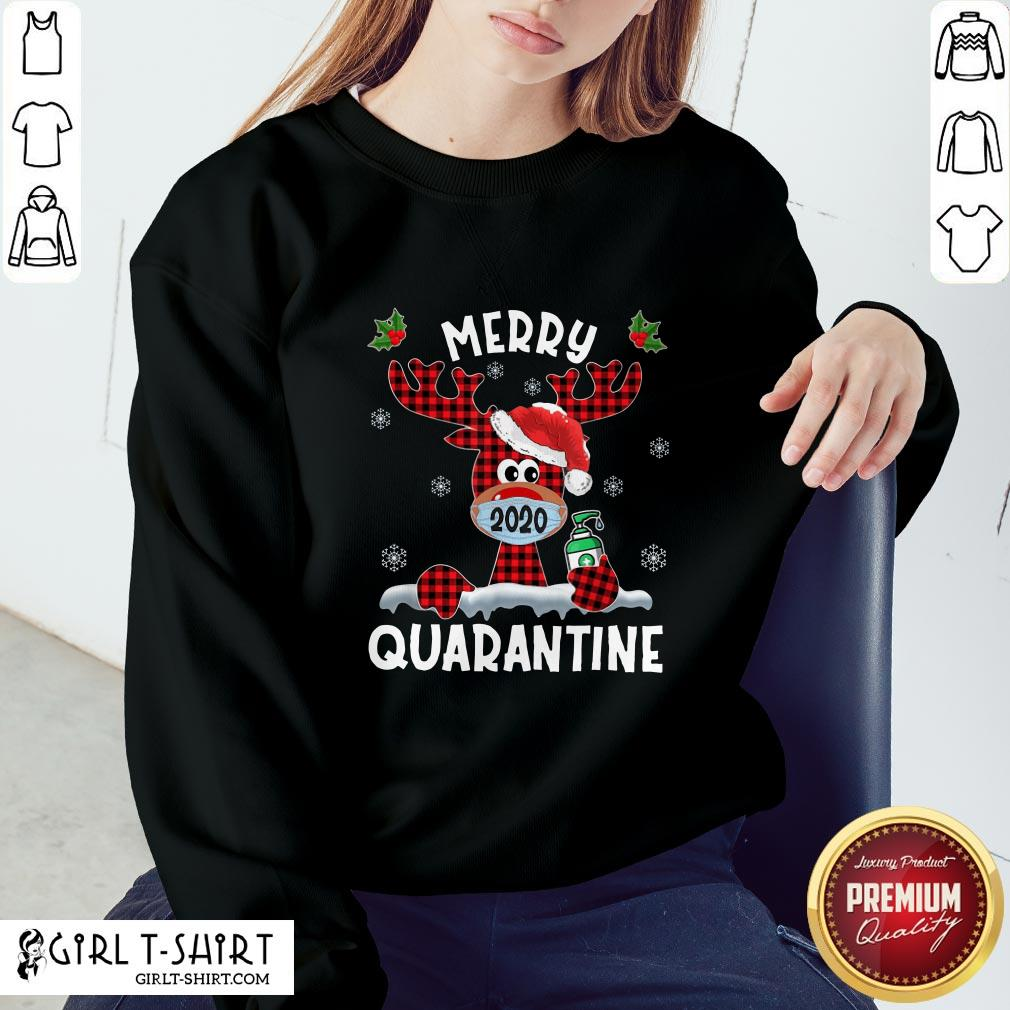 What Reindeer Face Mask 2020 Merry Christmas Quarantine Sweatshirt - Design By Girltshirt.com