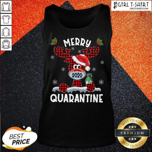 What Reindeer Face Mask 2020 Merry Christmas Quarantine Tank Top - Design By Girltshirt.com
