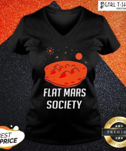 Wing Flat Mars Society V-neck - Design By Girltshirt.com