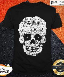 World Golden Retriever Skull Shirt - Design By Girltshirt.com