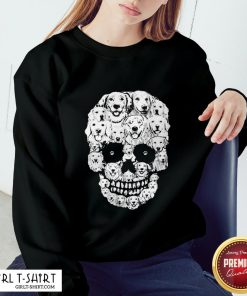 World Golden Retriever Skull Sweatshirt - Design By Girltshirt.com