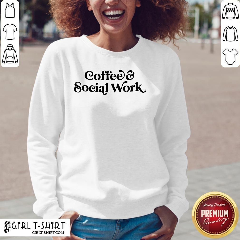 Awesome Coffee And Social Work V-neck- Design By Girltshirt.com