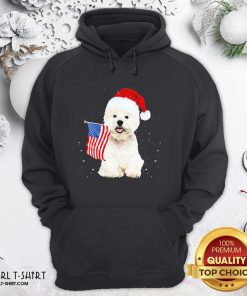Search Poodle Santa American Flag Happy Christmas Hoodie - Design By Girltshirt.com