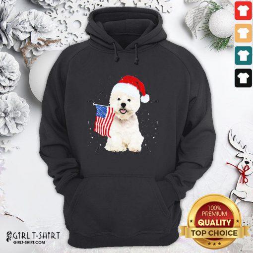 Search Poodle Santa American Flag Happy Christmas Hoodie - Design By Girltshirt.com